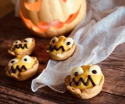 """Cestini con crema alla zucca """"Staffetta Halloween"""""""