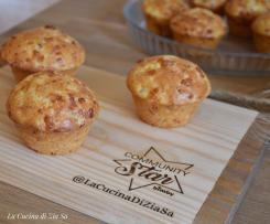 Muffin salati speck e scamorza
