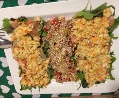 insalata di verdure e salmone marinato