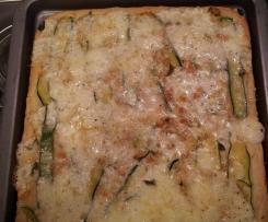 Pizza di Kamut alle zucchine