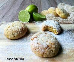 Biscotti Morbidi con Torrone Cioccolato bianco e Lime
