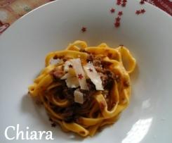 Tagliatelle parmigianose con ragù all'aceto balsamico - Natale
