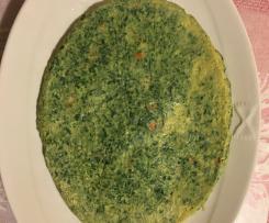 Frittata ai spinaci allo zenzero