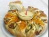 torta salata Margherita di spinaci con salsa all'aglio