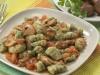 Gnocchi di patate e spinaci al sugo di porcini