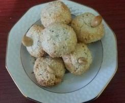 Biscotti al cocco con semi di chia senza glutine senza uova