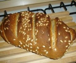 Pane alle 3 farine con semi di girasole e riso soffiato
