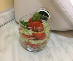 Tiramisù salato con robiola,basilico e pomodorini-Contest tiramisù estivo
