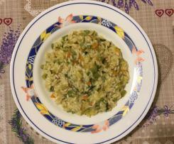 """Risotto """"Basilico e zucchine"""""""
