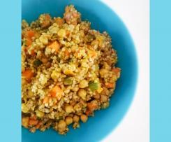Cereali, verdure e legumi alla curcuma - Contest Primavera
