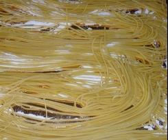 Spaghetti di pasta fresca all'uovo