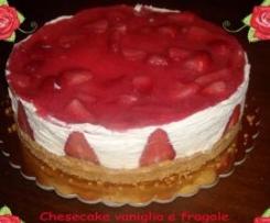 Cheesecake freddo vaniglia e fragole