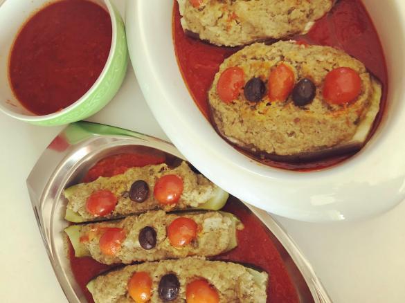 Zucchine e melanzane ripiene al Varoma