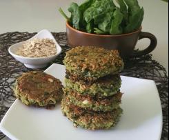Burger di quinoa con spinaci, fiocchi d'avena e feta