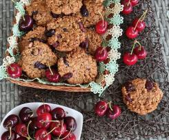 """Biscotti fiocchi d'avena mandorle e ciliegie vegan """"contest ciliegie"""""""