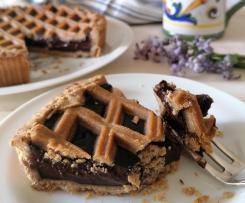 Crostata cioccolatosa con farina di castagne