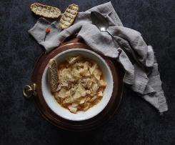"""Zuppa semplice di cavolo cappuccio """"contest ricette leggere"""""""