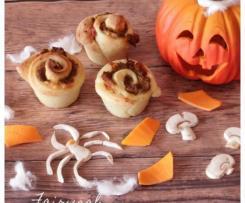 Rose Autunnali finger food (prosciutto, mozzarella, zucca e funghi) - Staffetta Halloween
