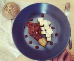 Pollo al varoma con salsa di carote, mela e Barolo al cacao