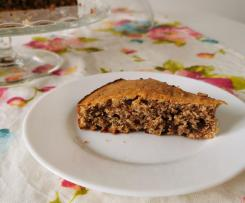 Torta integrale Bimby con noci e cioccolato
