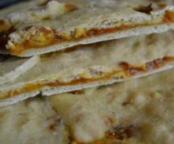 Torta bio con pasta madre e marmellata di albicocca