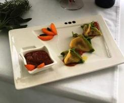 Ravioli con Salsa di albicocche