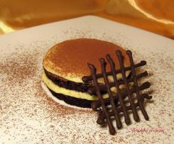 Tortino nero con crema pasticcera