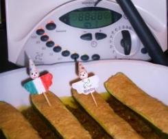 Barchette di zucchine ripiene al tonno