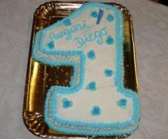 La prima torta di compleanno