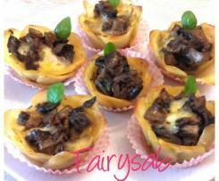 Cestini di Patate ripieni Funghi & Mozzarella -contest stuzzichini-
