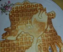 Waffle (waffles) o Gauffre con Salsa alla Vaniglia