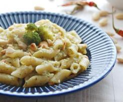 PASTA CON BROCCOLO, ACCIUGHE, PEPERONCINO E MANDORLE - contest pasta risottata -