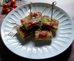 Frittata agretti e pomodorini al forno