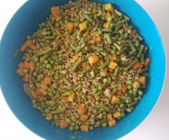 Farro con piselli, carote e fagiolini (contest legumi)