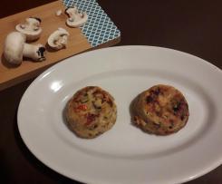 Sformatini di funghi castagne e pomodori secchi -contest funghi