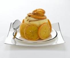 Charlotte di panettone con arance caramellate