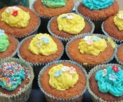 Cupcake con crema ganache