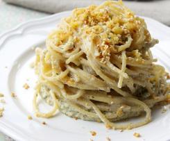 spaghetti al pesto di topinambur