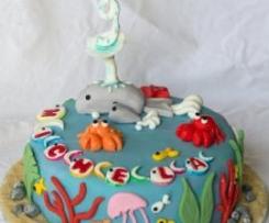 """Torta """"In fondo al mar"""" bis (per Michela 9 anni)"""