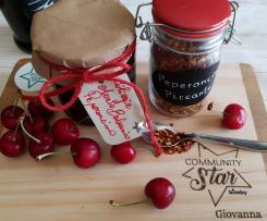 Confettura di ciliegie con aceto balsamico e peperoncino piccante Contest ciliegie