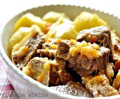 Spezzatino di manzo a grassato con patate