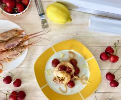 Gamberoni con ciliegie sottovuoto - CONTEST CILIEGIE -