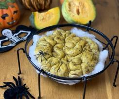 Pane zucca e radicchio spaventoso (staffetta di Halloween)