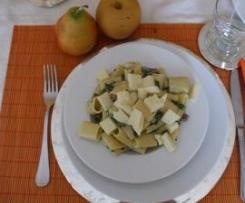 Paccheri con spinaci, pancetta e asiago