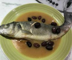 Spigola alla vernaccia /contest ricette con vino