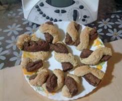 Biscotti bicolore da inzuppo