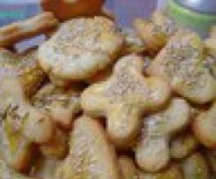 Biscotti al parmiggiano con prosciutto