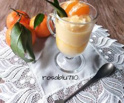 Sorbetto al mandarino aromatizzato al timo fresco