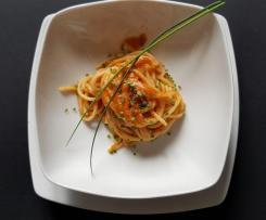 Spaghetti piccanti con le triglie