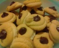Biscottini da the con la Nutella (tè)